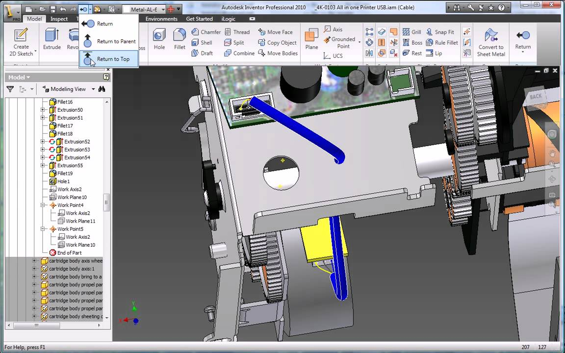 Autodesk Inventor 2010 Cable And Harness Design Youtube