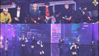 """190106 BTS Reaction to Twice """"BDZ What is love?"""" @33rd GDA"""