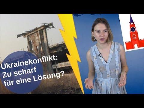 Ukrainekonflikt: Zu scharf für eine Lösung?