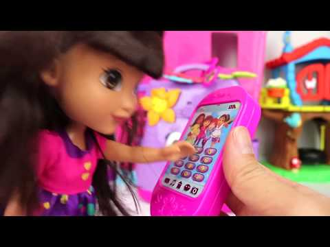 Nick Jr. DORA AND FRIENDS Backpack Adventure, Map, Cellphone, Clip On Key Chains Toy Surprise / TUYC