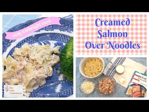 Creamed Salmon Over Noodles  Easy Recipe  Jennifer L  Scott