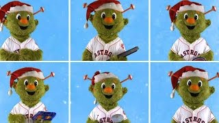 Orbit and the Astros wish Happy Holidays to all