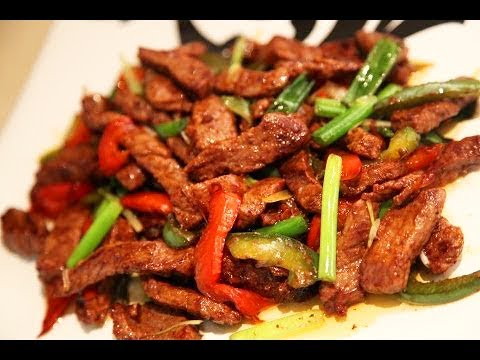 357822b2169f Beef with Capsicum easy Chinese style beef recipe step by step - YouTube