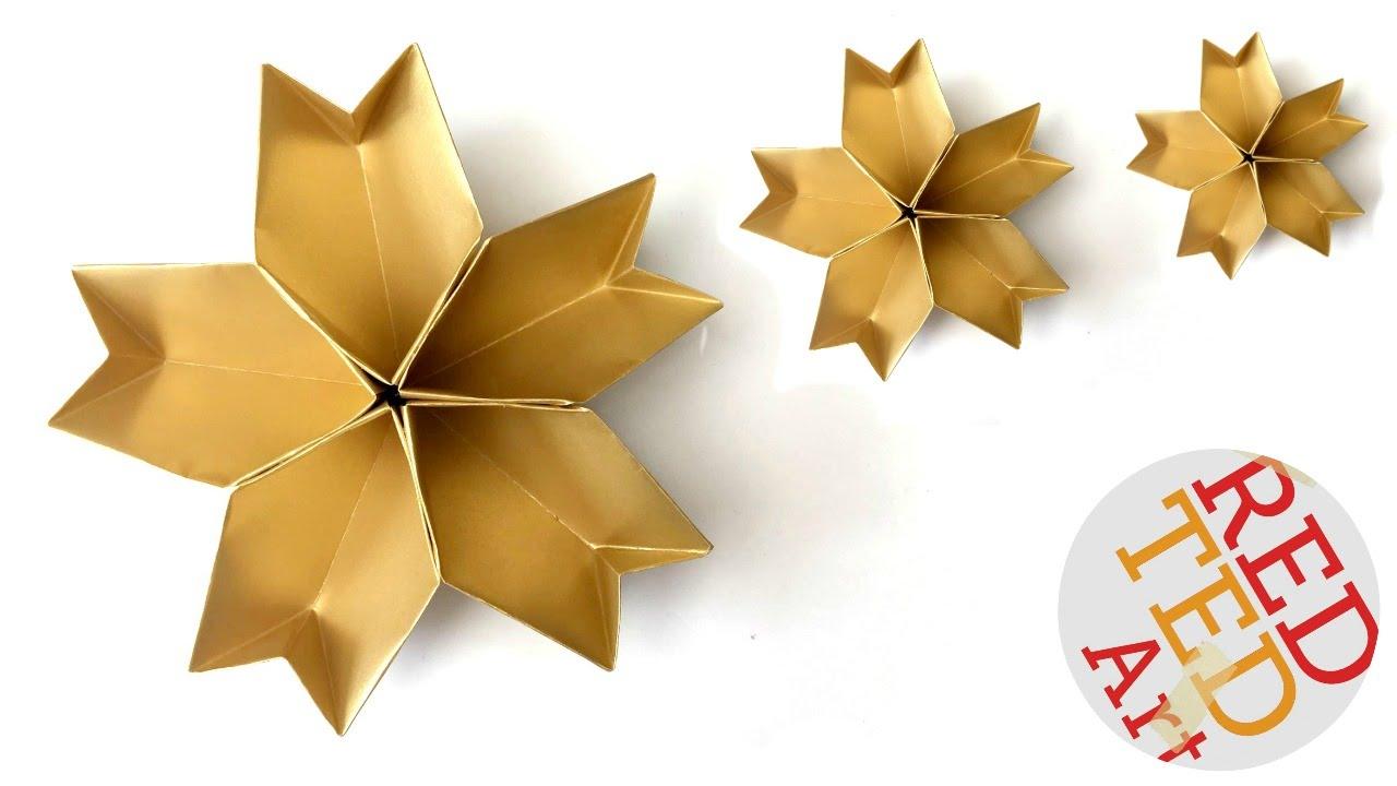How to Make 3-D Paper Stars | Diy christmas star, Xmas crafts ... | 720x1280