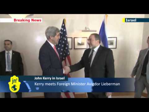 John Kerry meets Avigdor Lieberman in Israel to discuss peace deal with Palestinians
