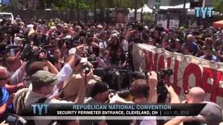Protesters Wall Off Trump at Doorstep of RNC