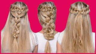 видео Плетение кос на средние волосы – 7 вариантов причесок