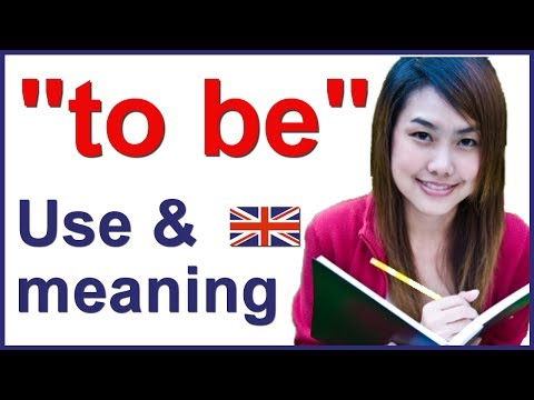 "Verb ""to BE"" in English 
