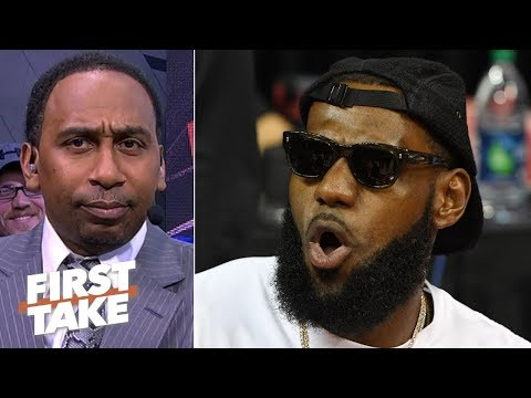 Stephen A. challenges LeBron to stop hiding on social media and refute reports live on First Take
