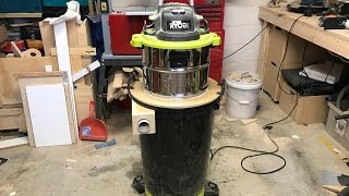 Cyclone Dust Separator (Shop Vac Hack)