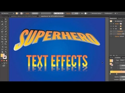 Superhero Text Effects in Adobe Illustrator CC/CS6 [Tutorial]