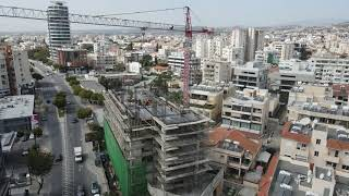 AVENUE 15 A magnificent business center in the heart of Makarios Avenue Construction process