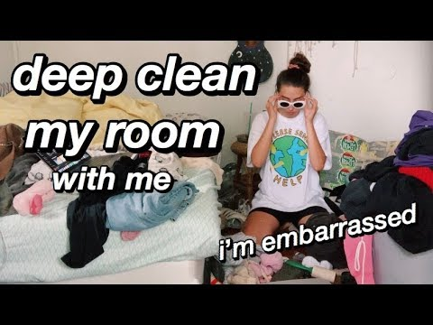 Deep Clean My Room With Me (actually so gross)