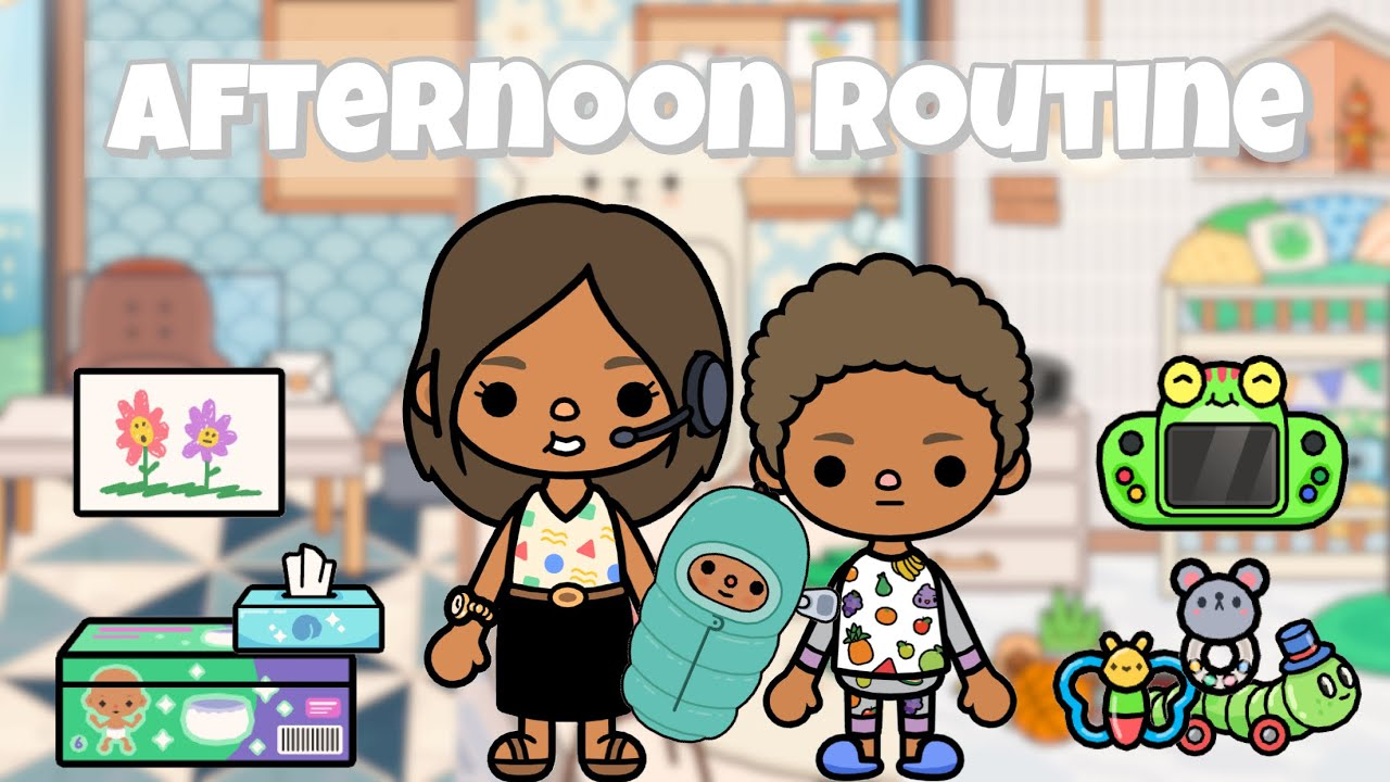 Mom with 2 kids Afternoon Routine🌥 | Toca life world