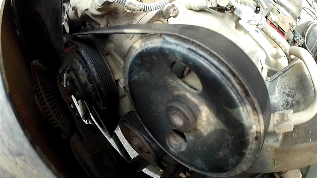 changing the serpentine belt on a jeep wrangler tj youtube 2000 jeep wrangler 4 0 engine belt diagram [ 1280 x 720 Pixel ]