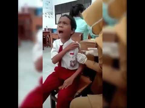 Anak SD Di Suntik Teriak ALLAHHU AKBAR-Video Viral ( Instagram )