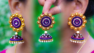 Make Unique Paper Earrings | handmade jewelry | made out of paper | Art with Creativity