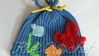 Πλεκτο Καλοκαιρινο Σκουφακι με Βελονακι (μερος 2ο)/ Crochet Deep Blue Sea Hat (part 2)