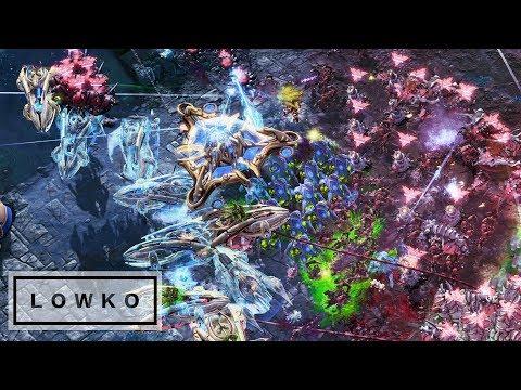 StarCraft 2: Photon Cannon vs Spine Crawler Rush! - YouTube