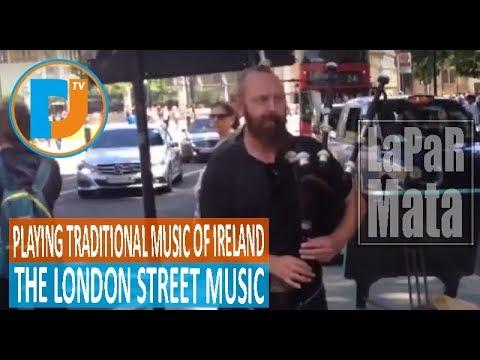 EKSPRESIF! MUSISI JALANAN LONDON MAINKAN MUSIK TRADISIONAL IRLANDIA #LaPaRMataDuniaMOA