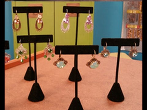 Katie Hacker Makes Crystal Earrings on Beads, Baubles & Jewels (2309-2)