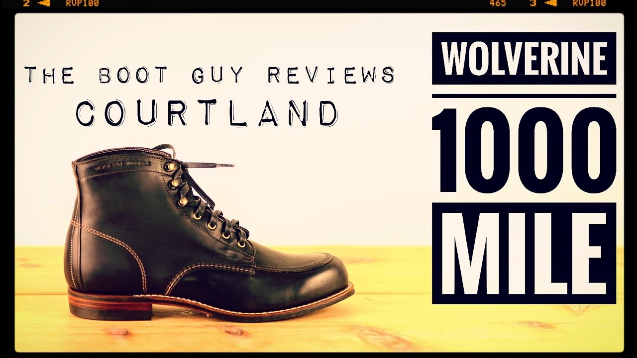 d2990f34d27 WOLVERINE COURTLAND 1000 MILE [ The Boot Guy Reviews ] by TheBootGuy