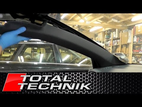 How to Remove Upper A Pillar Trim - Audi B6 B7 - TOTAL TECHNIK