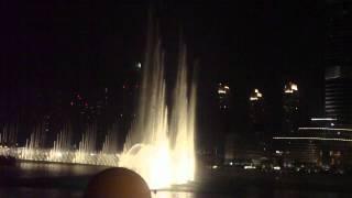 HD Dubai  Water Fountain Light Show close view