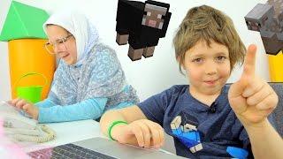 ИгроБой Адриан в гостях у Бабушки! Играем в МайнКрафт.
