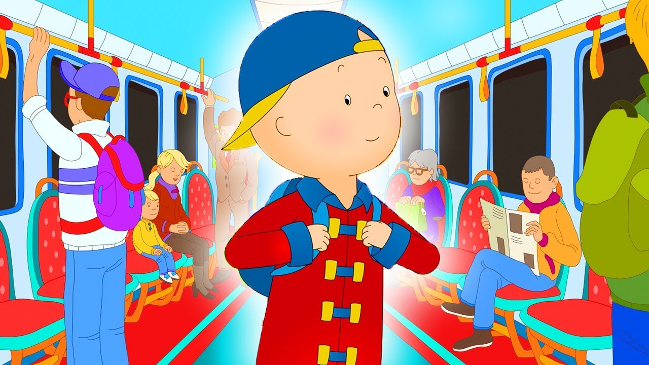 Funny Animated cartoons Kid | Caillou the Subway Surfer | WATCH ONLINE | Videos For Kids