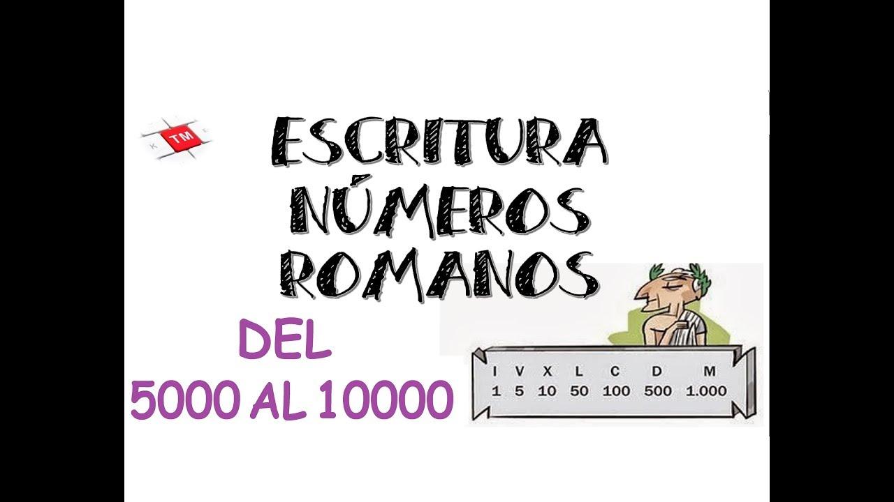 como escribir el numero 10000 en romano