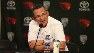 Oregon State Beavers baseball coach Pat Bailey previews the upcoming season
