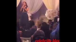 K.Michelle sings at Love & Hip Hop New York Yandy Smith wedding