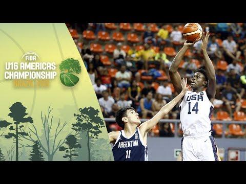 USA v Argentina - FIBA U16 Americas Championship 2019 [POR]