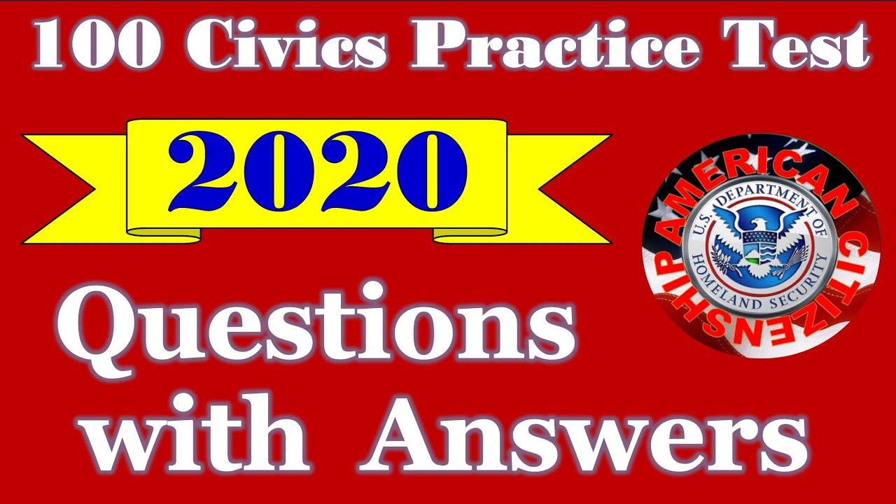 100 Civic Questions With Answers - Official 2020