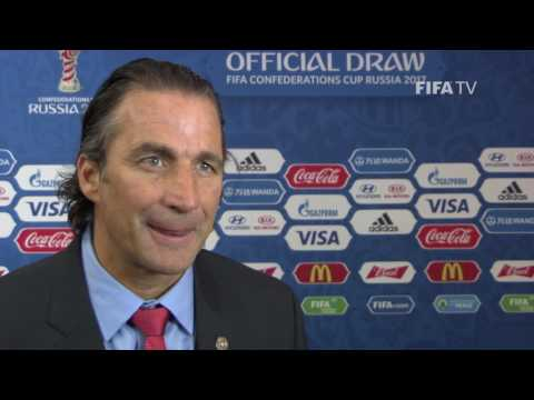 Juan Antonio​ Pizzi Reaction to FIFA Confederations Cup Official Draw