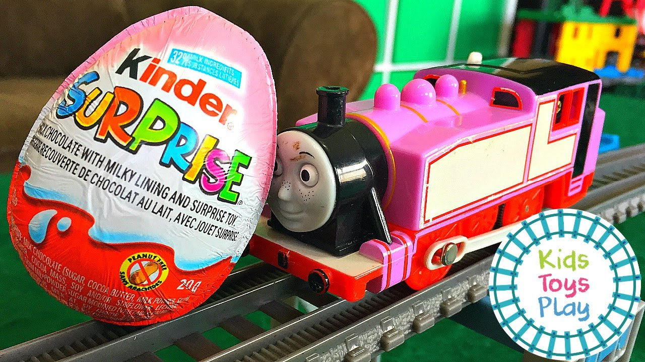 Thomas the Train Worlds Strongest Engine with Kinder Surprise Eggs