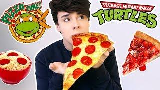 i ate TEENAGE NINJA TURTLES foods for 24 hours !!!