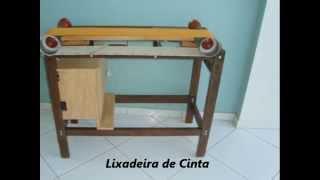 Lixadeira de Cinta.wmv (Belt Sander Homemade)