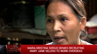Recruiter denies hand in Veloso drug mule case