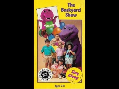 Barney: The Backyard Show 1992 VHS - YouTube