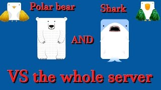 Deeeep io Shark and polar Bear vs the whole server