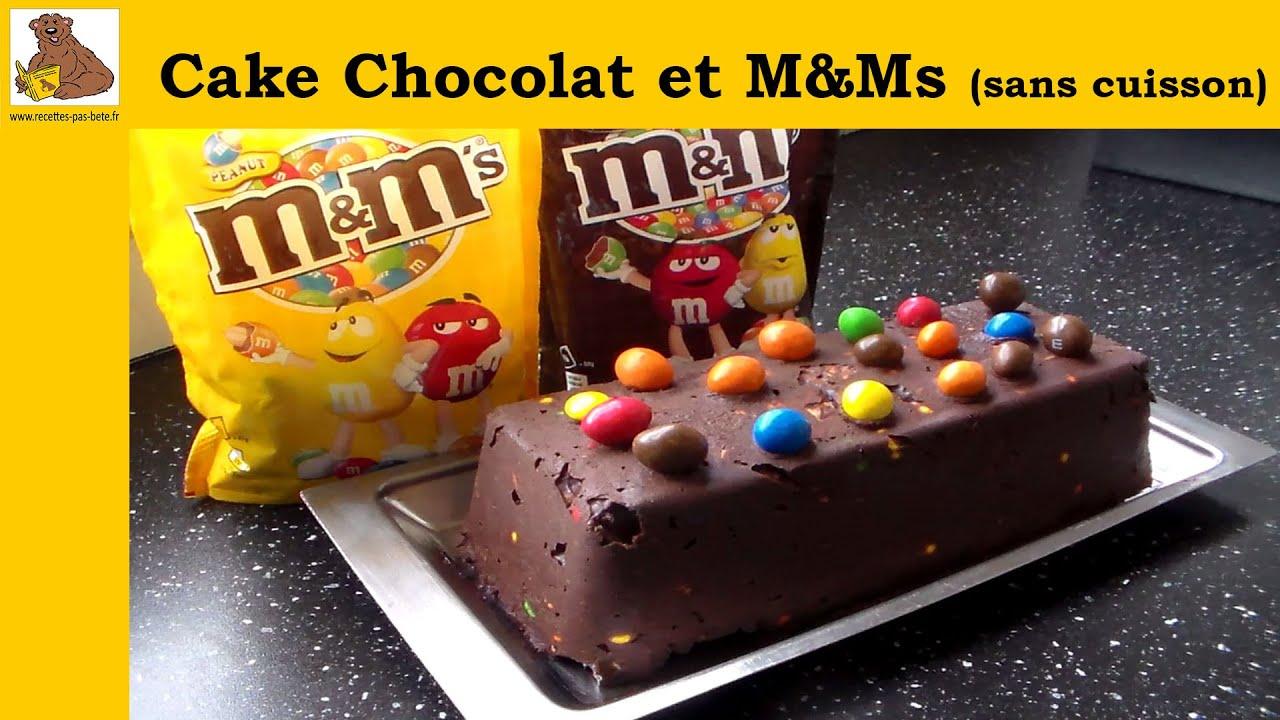 Super gateau au chocolat et M&Ms sans cuisson - recette facile - YouTube TZ79
