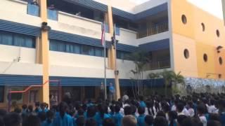 Flag flown at half mast at Telok Kurau Primary School