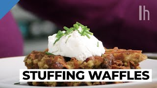 How to Make Savory Waffles Out of Leftover Thanksgiving Stuffing | Food Hacks with Claire