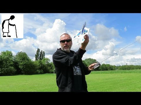 Charity Shop Gold or Garbage Silverlit X Twin Jet RC Plane Flying - Nanny Camera