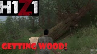 How to play H1Z1 - Crafting an axe, cutting trees and making fires!
