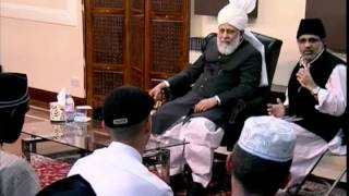 French converts meeting with Khalifatul Masih V ~ Islam Ahmadiyya (Urdu/French)