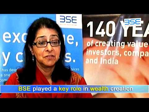 Smt. Naina Lal Kidwai, Director, HSBC Asia Pacific speaking on 140 Years of BSE