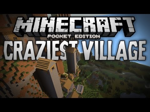 BEST VILLAGE SEED EVER?!?! - Crazy Awesome Village Hills Seed - Minecraft Pocket Edition